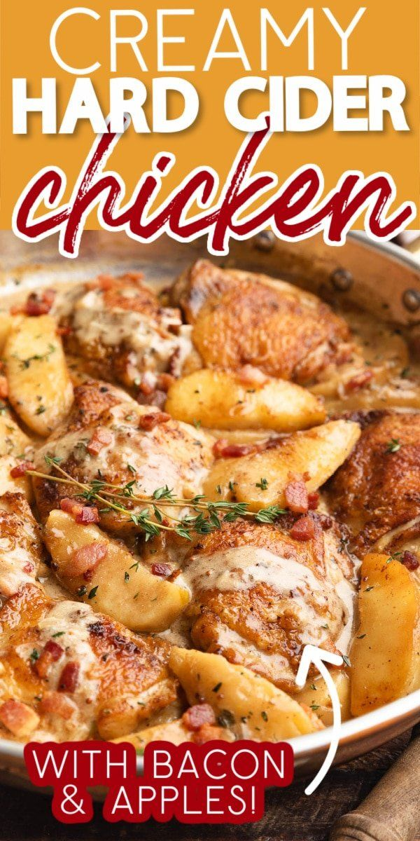 Creamy Chicken Thighs With Hard Cider And Apples Striped Spatula Recipe In 2020 Fall Recipes Healthy Easy Fall Dinners Fall Comfort Food