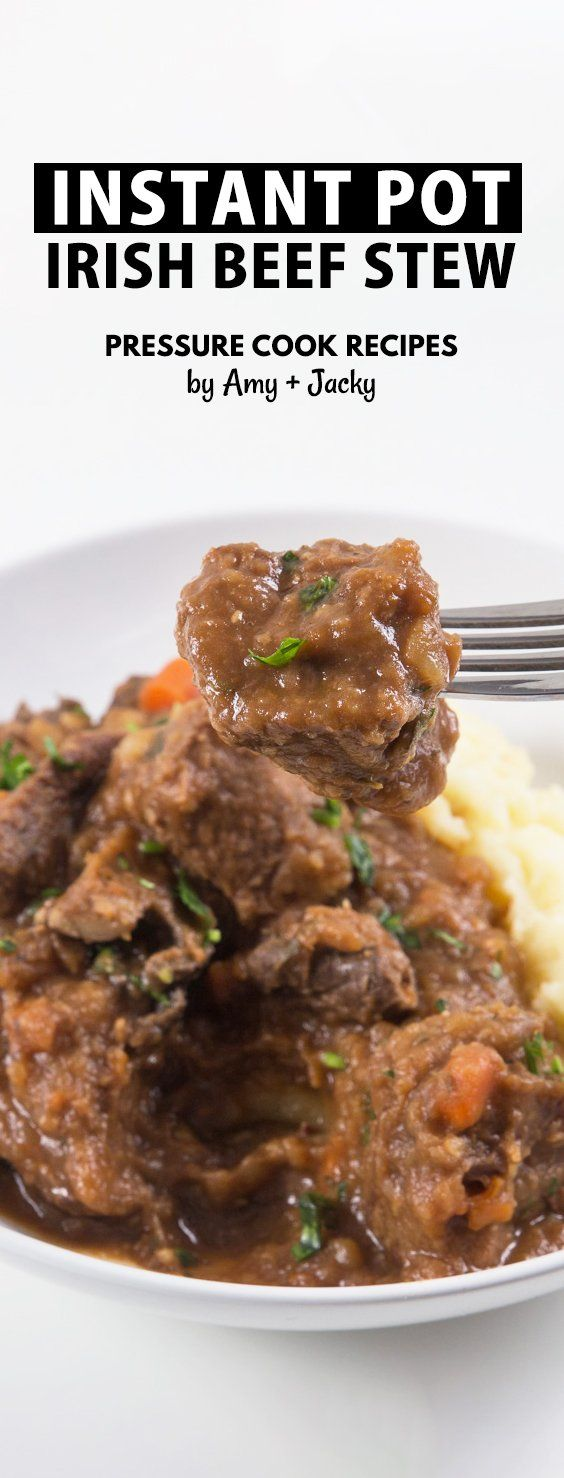Guinness Instant Pot Irish Beef Stew and Mashed Potatoes Recipe: Celebrate St Patrick's Day with this Pot-in-Pot Pressure Cooker Irish Stew with rich gravy. Delicious adult treat you shouldn't miss! via @pressurecookrec