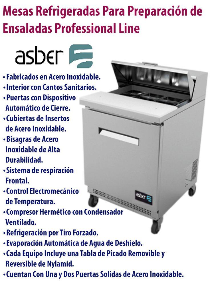 Mesa para preparación de ensaladas #Asber.