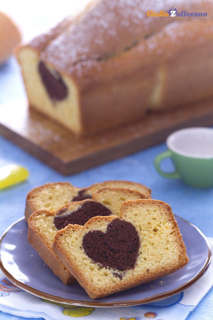 Con il #plumcake romantico (hidden heart loaf cake), tutti rimarranno dolcemente…