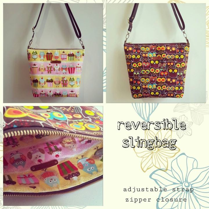 reversible slingbag with zipper