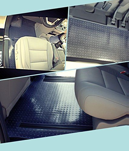 Puremats Toyota Sienna Floor Mats 8 Passengers Full Set Storage Mat All Weather Heavy Duty Crystal Clear 20112017 Find Out More About The Great Product