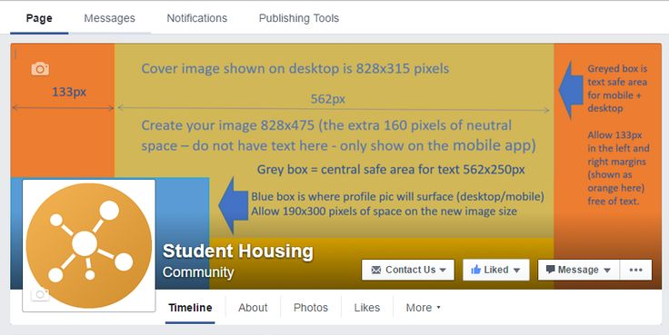 Facebook Cover image size specs