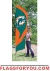 Dolphins Tall Team Flag 8.5' x 2.5'
