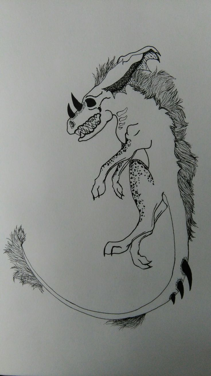 I draw monster today.This is okay.I try best this work.