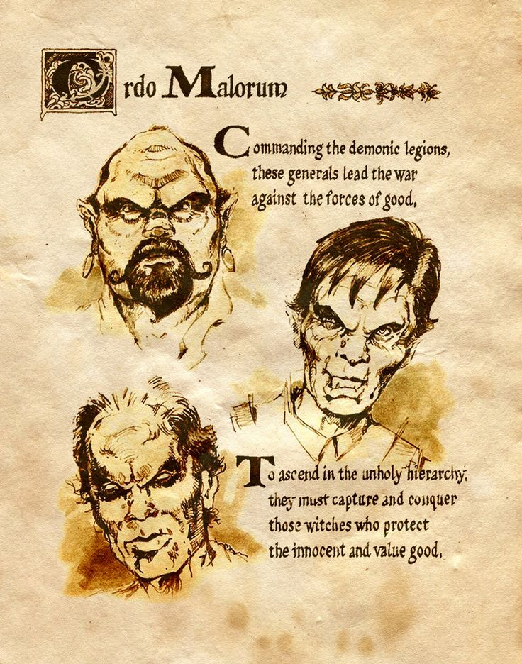 """Book of Shadows:  """"Ordo Malorum I,"""" by Charmed-BOS, at deviantART."""