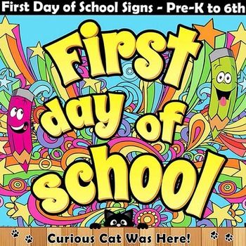 First day of school photo sign prop.  Create happy memories of your students first day at school.