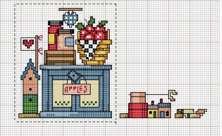 Mejores 31 imágenes de кухня en Pinterest | Punto de cruz, Puntos y ...
