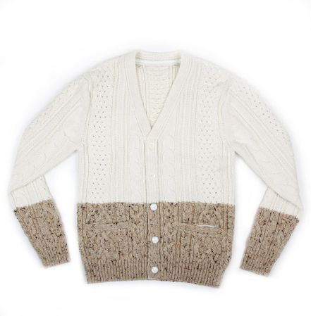 Sacai Cable Knit Split Cardigan at Union Los Angeles