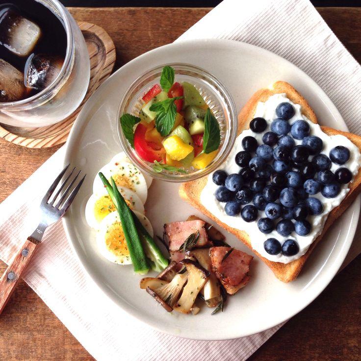 breakfast. 朝ごはん。