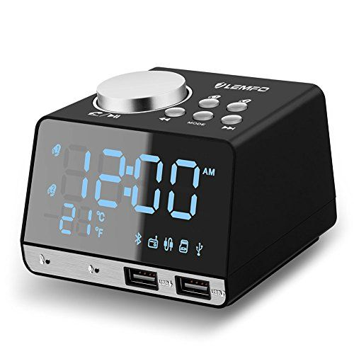 Clock Radio, LEMFO Digital FM Radio Snooze Alarm Clock with Dual USB Charging Ports Aux in Music Speaker, LED Display Dimmer, Indoor Thermometer, Battery Backup - Buyer Guidance 1. The FM radio mode and audio speaker mode can work as normal only when connect to power supply. If you use back-up battery, these functions can not work. 2. When cut off the power supply and reconnect it, the alarm can reset the time and the previous time cannot be stored. Advice...