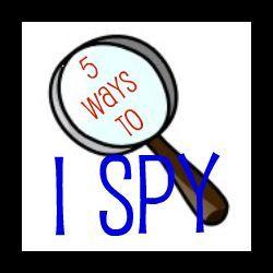 5 ideas for playing I Spy: Spy Activities, Eye Spy, Fun Twists, Spy Ideas, Spy Games, Ideas Readingconfetti, Reading Confetti, Clever Ideas, Spy Books