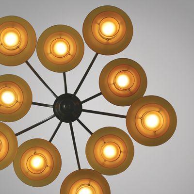 The l&  Bombardment Chandelier  by Danish architect Poul Henningsen designed in Made by Louis Poulsen. Glass bakelite and metal. & 23 best Danish Design   Poul Henningsen images on Pinterest ... azcodes.com