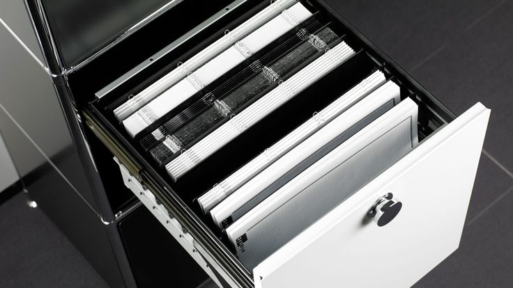 Bueromoebel Metall Sideboard Highboard mit Ausziehtuere fürHängemappen und Hängehefter Rollcontainer mit Metall Ausziehtuere Vollauszug für Prospekte und Kataloge