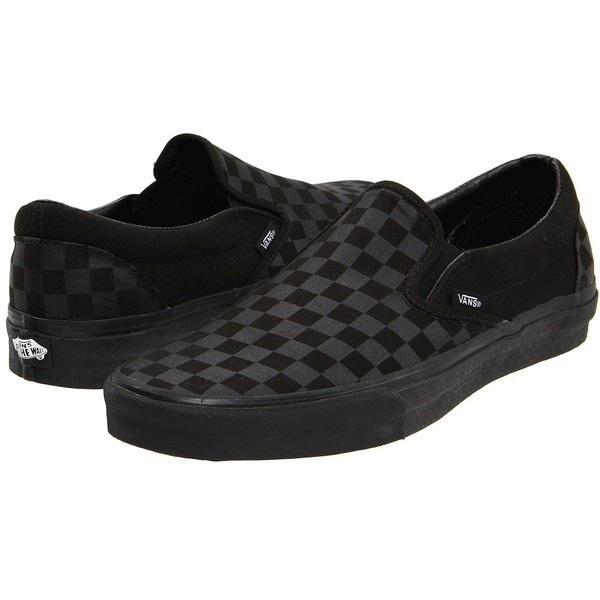 vans checkerboard black grey