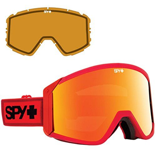 Spy Optic Elemental Red Raider Winter Sport Racing Snowmobile Goggles, Bronze w  Red Spectra, One Size Visit the image link more details.