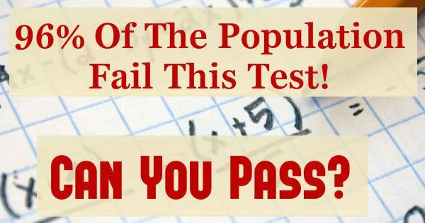 Only 4% Of The Population Can Pass This Math Test