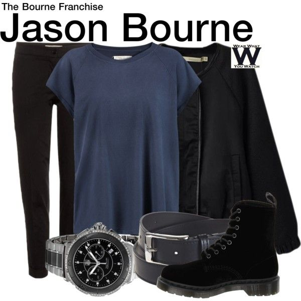 Inspired by Matt Damon as Jason Bourne in the Bourne movie franchise.