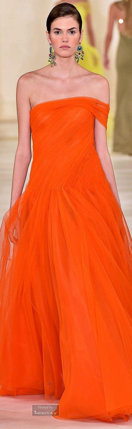 @roressclothes clothing ideas #women fashion orange maxi dress