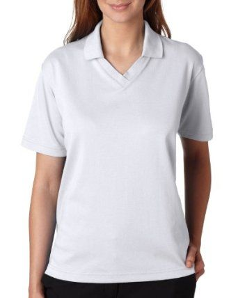 UltraClub Women's V-Neck Performance Polo Shirt. 8436 - White 8436 M UltraClub. $2.74