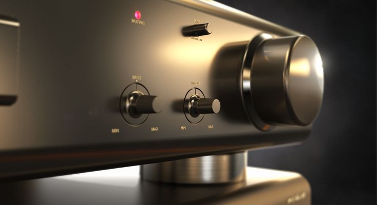 Technic Stereo Control Amp modeled in Solid Edge by Marius Slagsvold, rendered in KeyShot.
