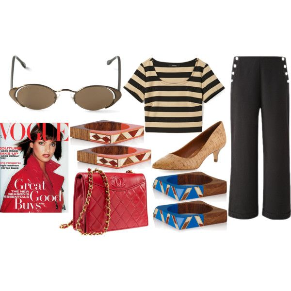 """Crop top and oval sunglasses for Ninities look"" by raffaellaclausi on Polyvore"