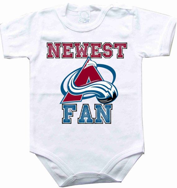 Baby bodysuit Newest fan Colorado avalanche hockey NHL One Piece Bodysuit Funny Baby Onesie Child boy girlen's Clothing Kid's Shower boy on Etsy, $10.98