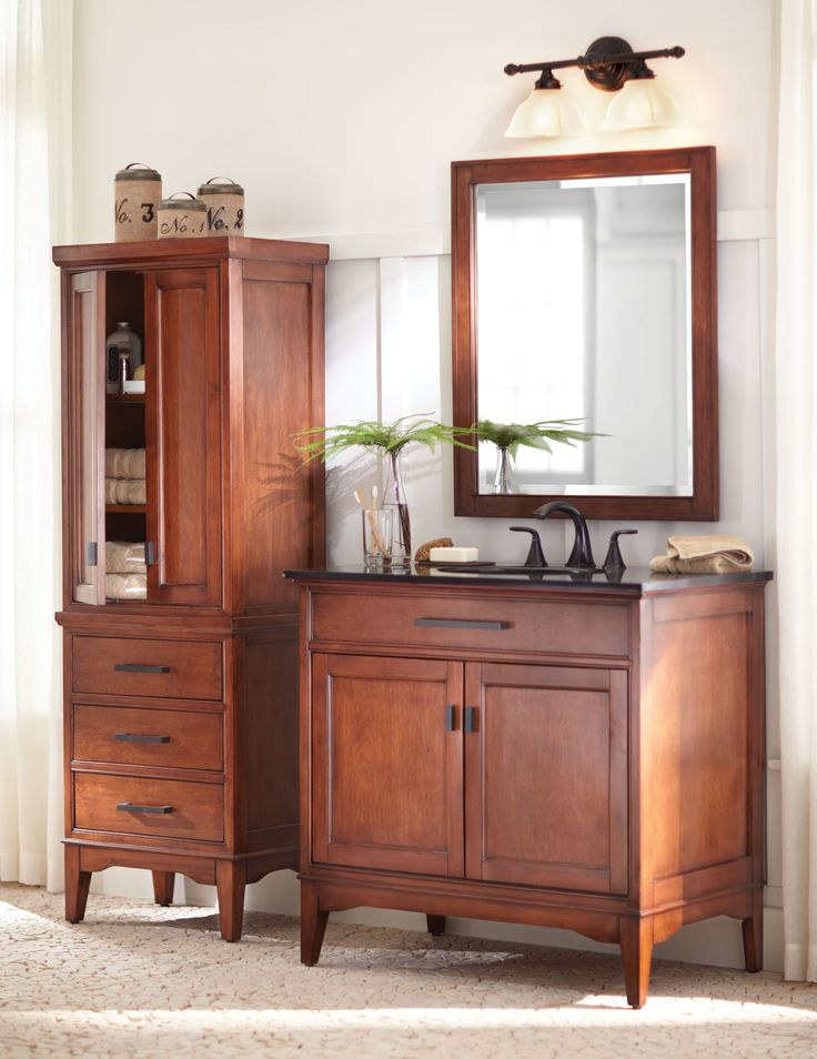 1000 images about bath on pinterest for Bathroom vanities and linen cabinets