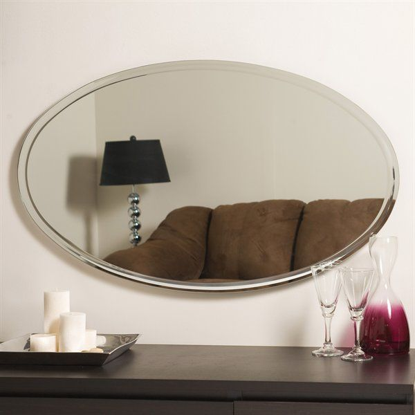 Decor wonderland ssm1067 extra long oval wall mirror for Long decorative wall mirrors