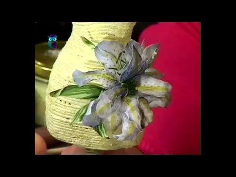 Объемный декупаж. Создаём цветы в технике Sospeso Transparente. Мастер класс - YouTube