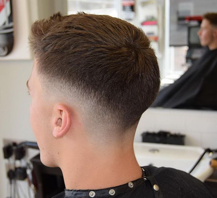 Kurze Quiff Drop Fade Manner Kurze Frisuren Kurze Manner