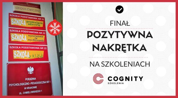 Finał Pozytywnej Nakrętki w Cognity!  Przyszliśmy i zostawiliśmy - Szkoła Podstawowa nr 22 w Krakowie już tam była, uśmiechnęła się i przyjęła :)  Wszystkie nasze nakrętki, które zebraliśmy razem z Wami, trafiły już do wspólnego kosza DOBRA. Na Święta zrobiliśmy coś dobrego, dziękujemy! :)  Przeczytajcie więcej o tej akcji: https://www.cognity.pl/pozytywna-nakretka-final,blog2,163.html  Trzymamy za Was kciuki, chłopcy!  #napomoc #sp22 #święta #robimydobro #cognity #szkolenia