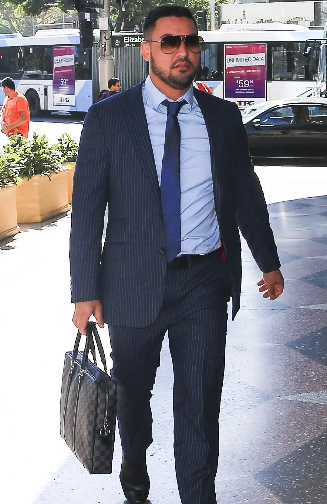 Salim Mehajer, entering Downing Centre. Picture: Dylan Robinson