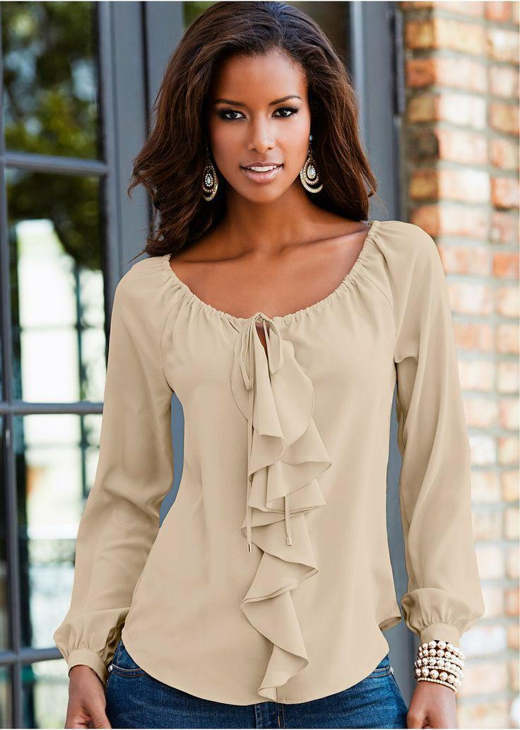 Блуза темно-красный купить онлайн - bonprix.ru