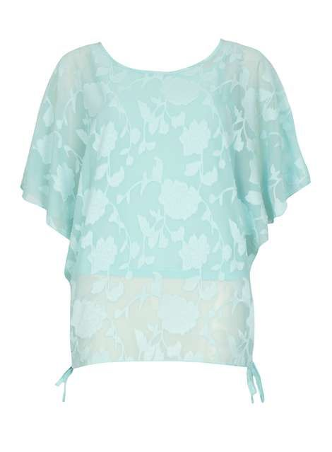 **Izabel London Light Blue Floral Top - Tops & T-Shirts - Clothing - Dorothy Perkins