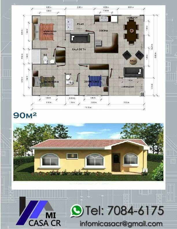 331 mejores im genes sobre casas en pinterest planos de - Planos de casas de pueblo ...