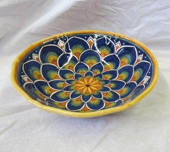 Antico Peacock Bowl