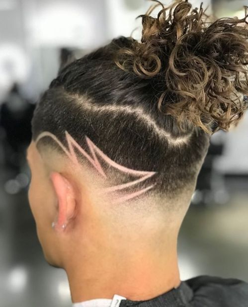 Double Layer Undercut - 50 Stylish Undercut Hairstyles for Men to Try in 2019 - The Trending Hairstyle Best Fade Haircuts, Haircuts For Men, Long Haircuts, Haircut Designs For Men, Japanese Hair Straightening, Curly Hair Styles, Natural Hair Styles, Mens Braids Hairstyles, Medium Hairstyles