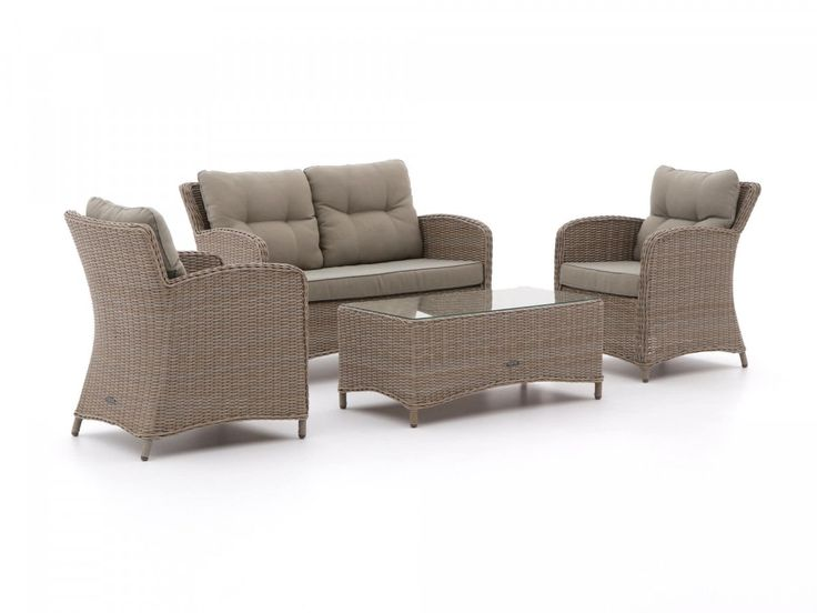 Klassisches Sessel Sofa Lounge Set Aus Polyrattan
