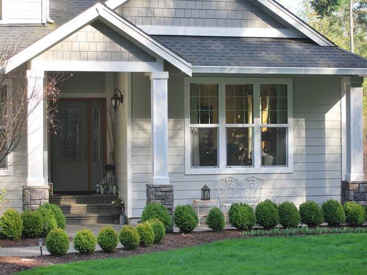Planning & Ideas:Front Porch Columns Front Porch Columns With Green Grass
