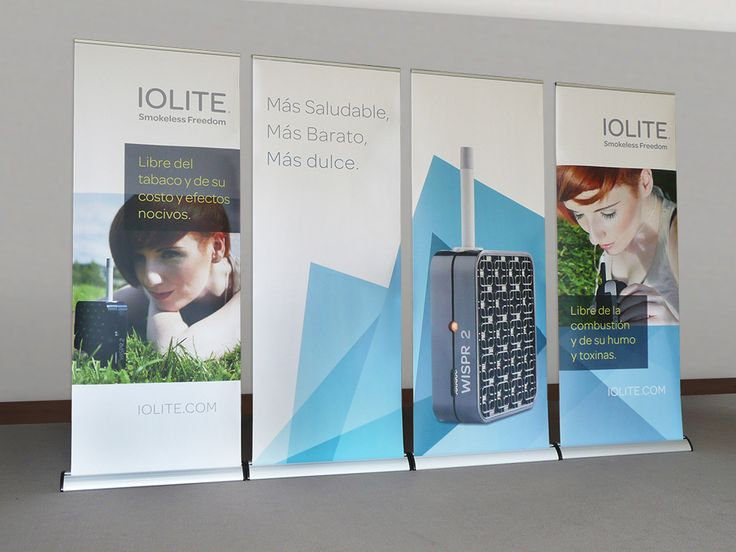 IOLITE pop-up banners for Spanish exhibition.