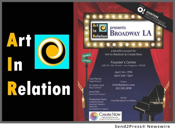 "Jonas Sills, founder and executive producer of Art-In-Relation (A.I.R.), announces a grand benefit performance of ""Broadway-LA."" After three successful seasons of theater in the Long Beach area, Art-In-Relation made its move to Los Angeles with two acclaimed productions, ""Andrew Lippa's Wild Party"" and ""Frankenstein, A New Musical"" in the fall of 2016. They were honored to receive rave reviews and an ""Ovation Recommendation"" from the LA Theater Alliance."