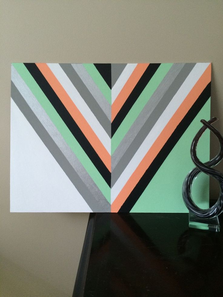 Hand Painted Thin Modern Chevron Arrow Canvas Art by SmileyRyleeCreations on Etsy https://www.etsy.com/listing/249660213/hand-painted-thin-modern-chevron-arrow