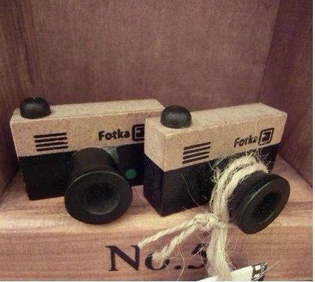 NEW 2 Small vintage LOMO Camera wood stamp