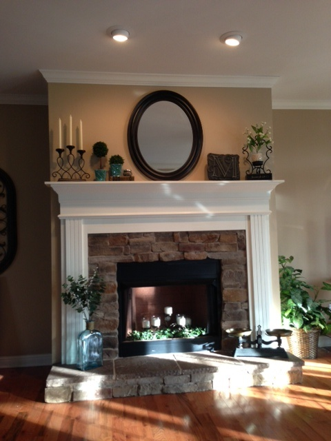 this is exactly how i want my fireplace refaced the stonework the mantle