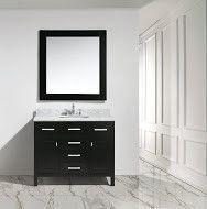 "London 42"" Single Sink Vanity Set, Espresso Finish, Carrara Marble Top"