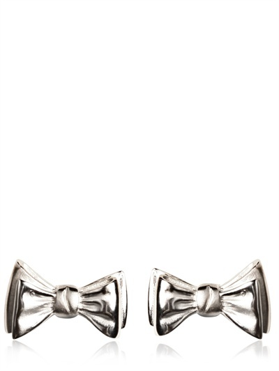LANVIN - BOW TIE BRASS CUFFLINKS