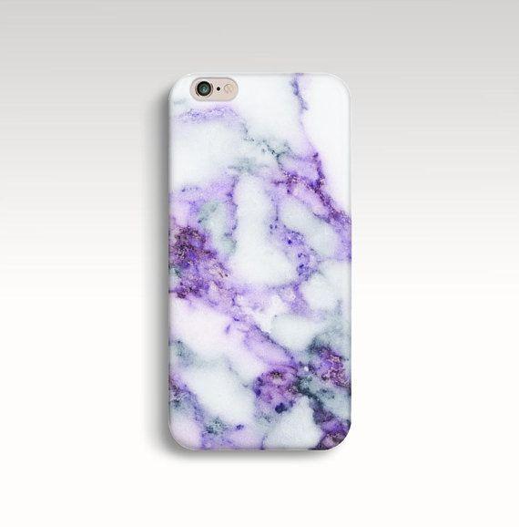Marbre iPhone 7 cas marbre violet iPhone 6 s coque par FabStory