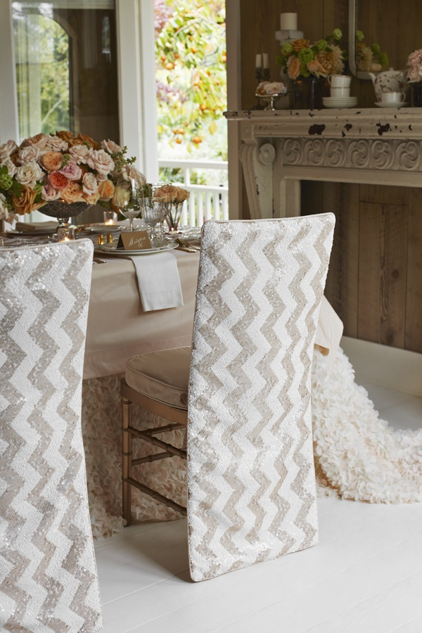 Lovely Chevron Chair Covers