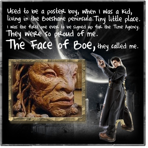 The face of Boe.: Timey Wimey, The Faces, Wobble Timey, Doctors Who, Face Of Boe, Jack O'Connell, Captain Jack Harkness, Dr. Who, Faces Of Boeing